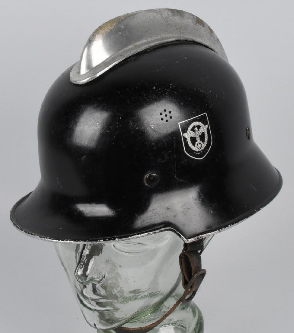 WWII NAZI GERMAN FIRE POLICE DOUBLE DECAL HELMET