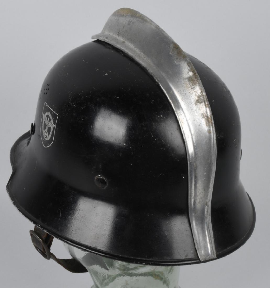 WWII NAZI GERMAN FIRE POLICE DOUBLE DECAL HELMET - 4