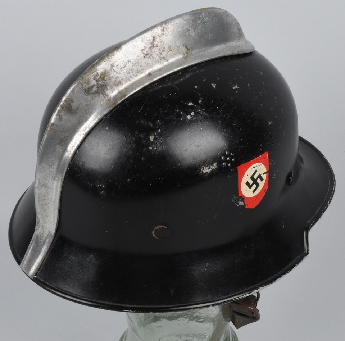 WWII NAZI GERMAN FIRE POLICE DOUBLE DECAL HELMET - 5