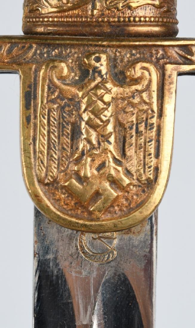 WWII NAZI GERMAN DOVE HEAD OFFICER'S SWORD - 6