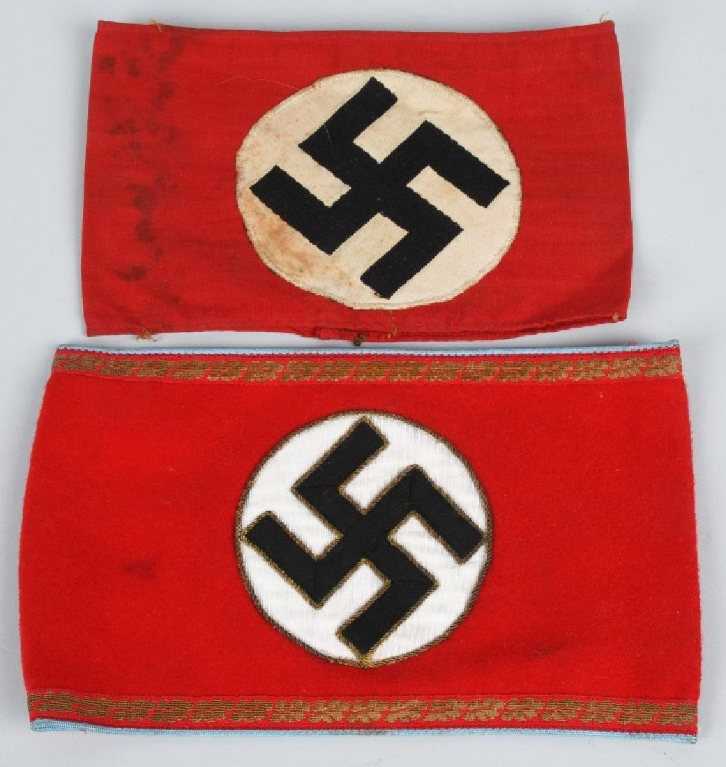WWII NAZI GERMAN ARMBAND LOT - NSDAP & ORTS