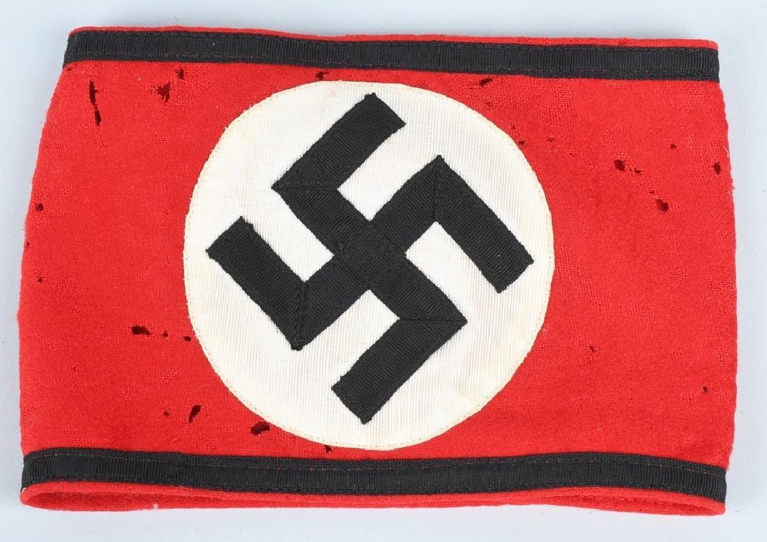WWII NAZI GERMAN ARMBAND LOT - SS & STRETCHER - 2