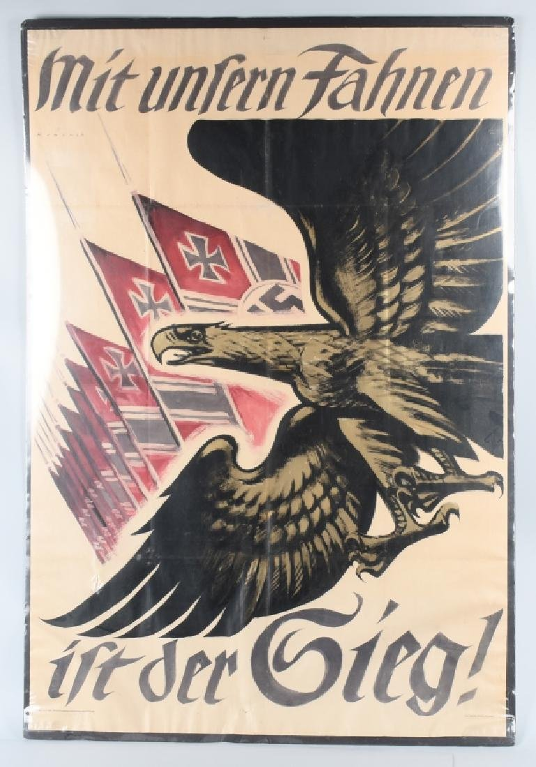WWII NAZI GERMAN POSTER BY M JOLNER