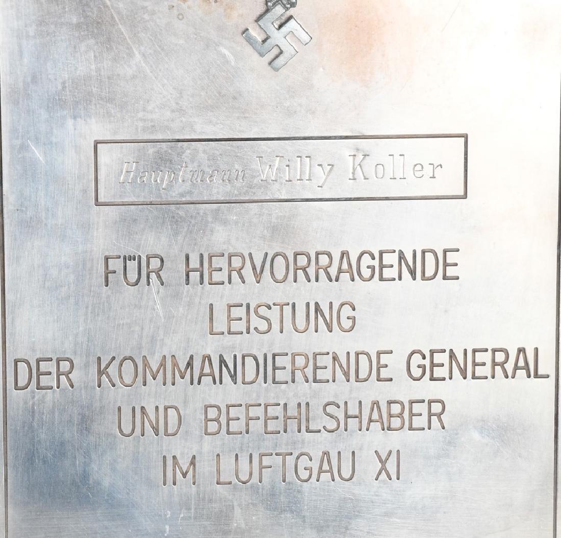 WWII NAZI GERMAN LUFTWAFFE NAMED PLAQUE - 3