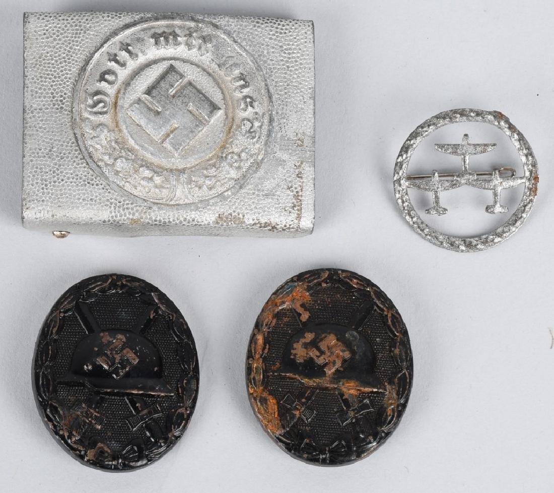 WWII NAZI GERMAN BUCKLE & MEDAL LOT