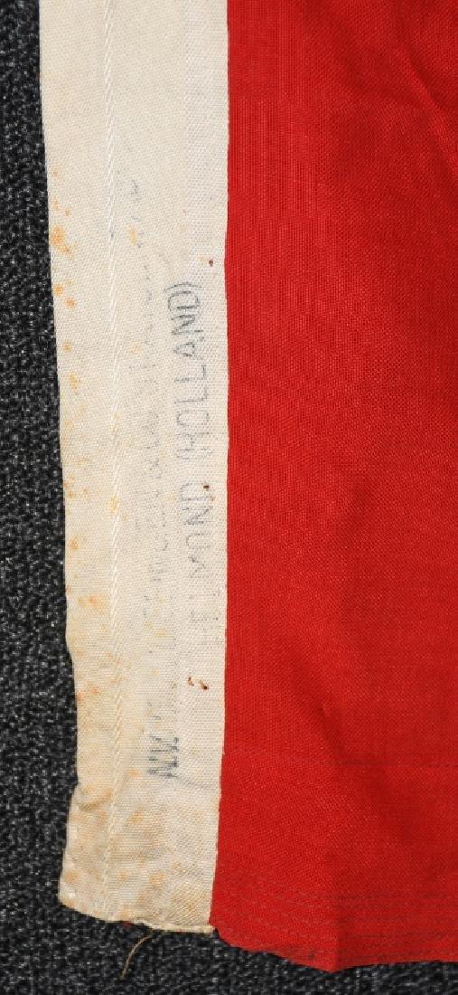 WWII NAZI GERMAN KRIEGSMARINE DUTCH MADE FLAG - 4