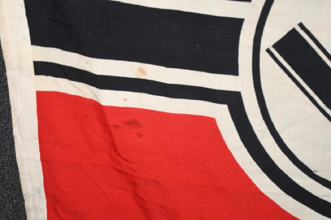 WWII NAZI GERMAN KRIEGSMARINE DUTCH MADE FLAG - 5