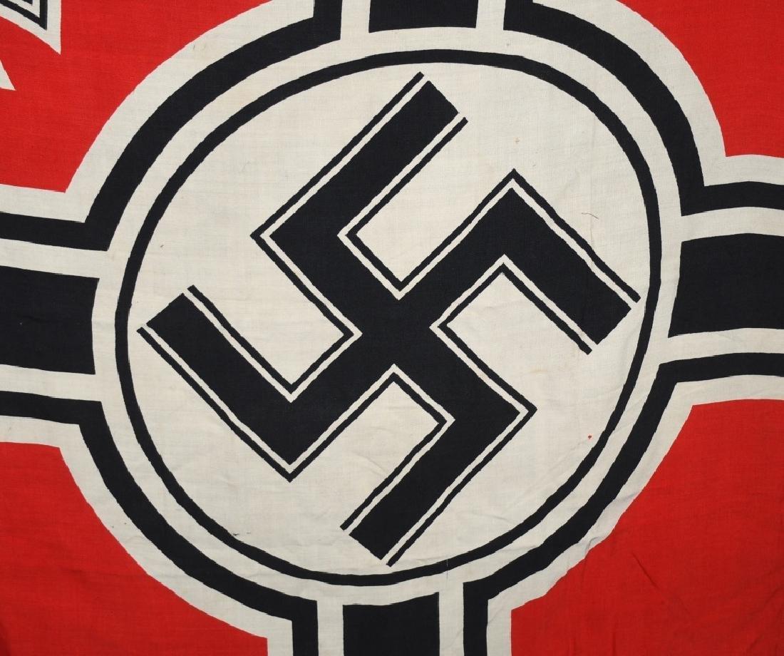 WWII NAZI GERMAN KRIEGSMARINE DUTCH MADE FLAG - 6