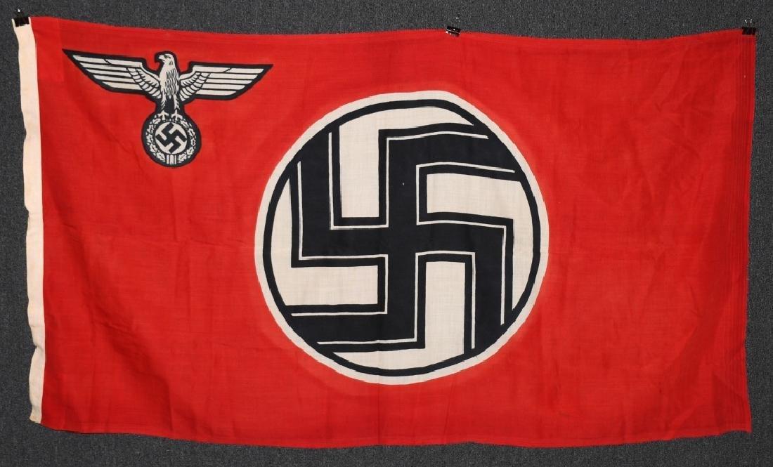 WWII NAZI GERMAN STATE FLAG & ENSIGN REICHDIENSTE