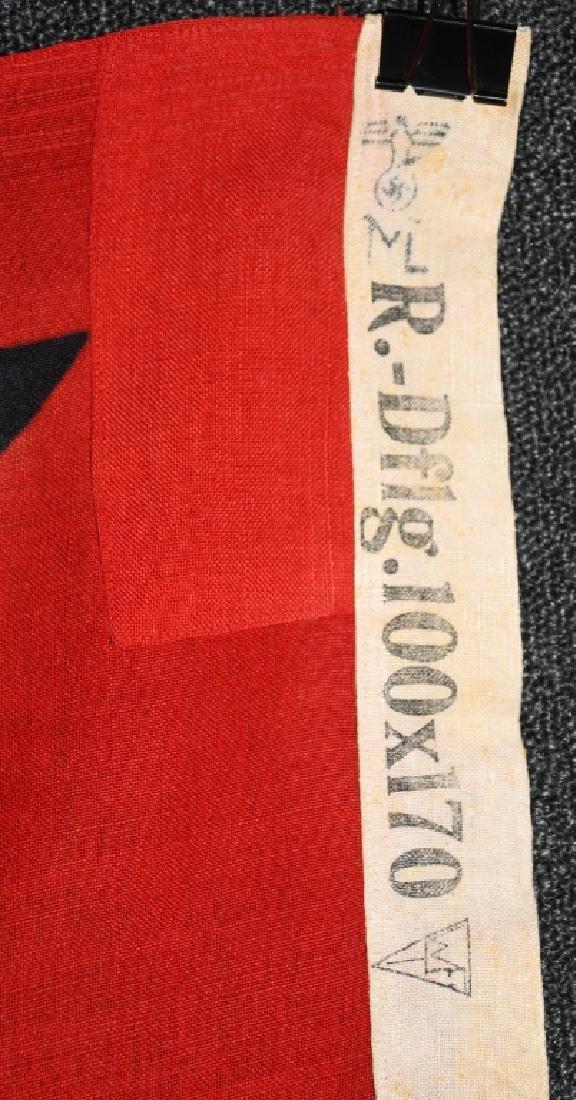 WWII NAZI GERMAN STATE FLAG & ENSIGN REICHDIENSTE - 9