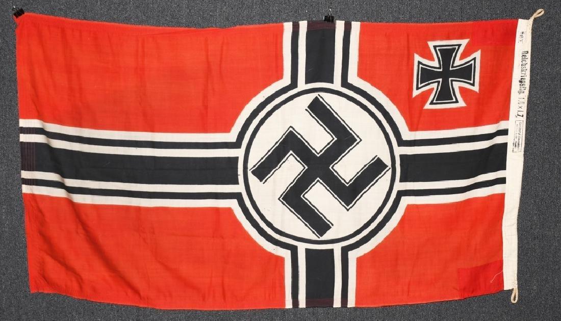 WWII NAZI GERMAN KRIEGSMARINE FLAG - 7