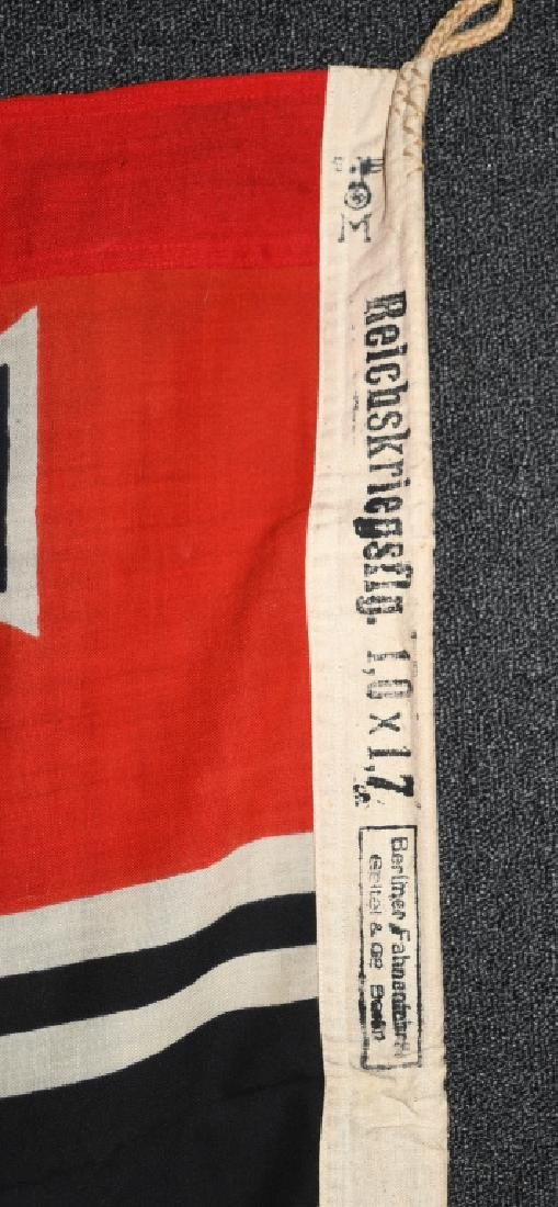 WWII NAZI GERMAN KRIEGSMARINE FLAG - 8