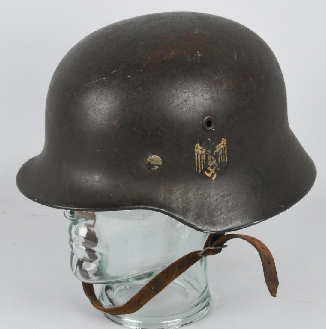 WWII NAZI GERMAN M 35 SINGLE DECAL ARMY HELMET