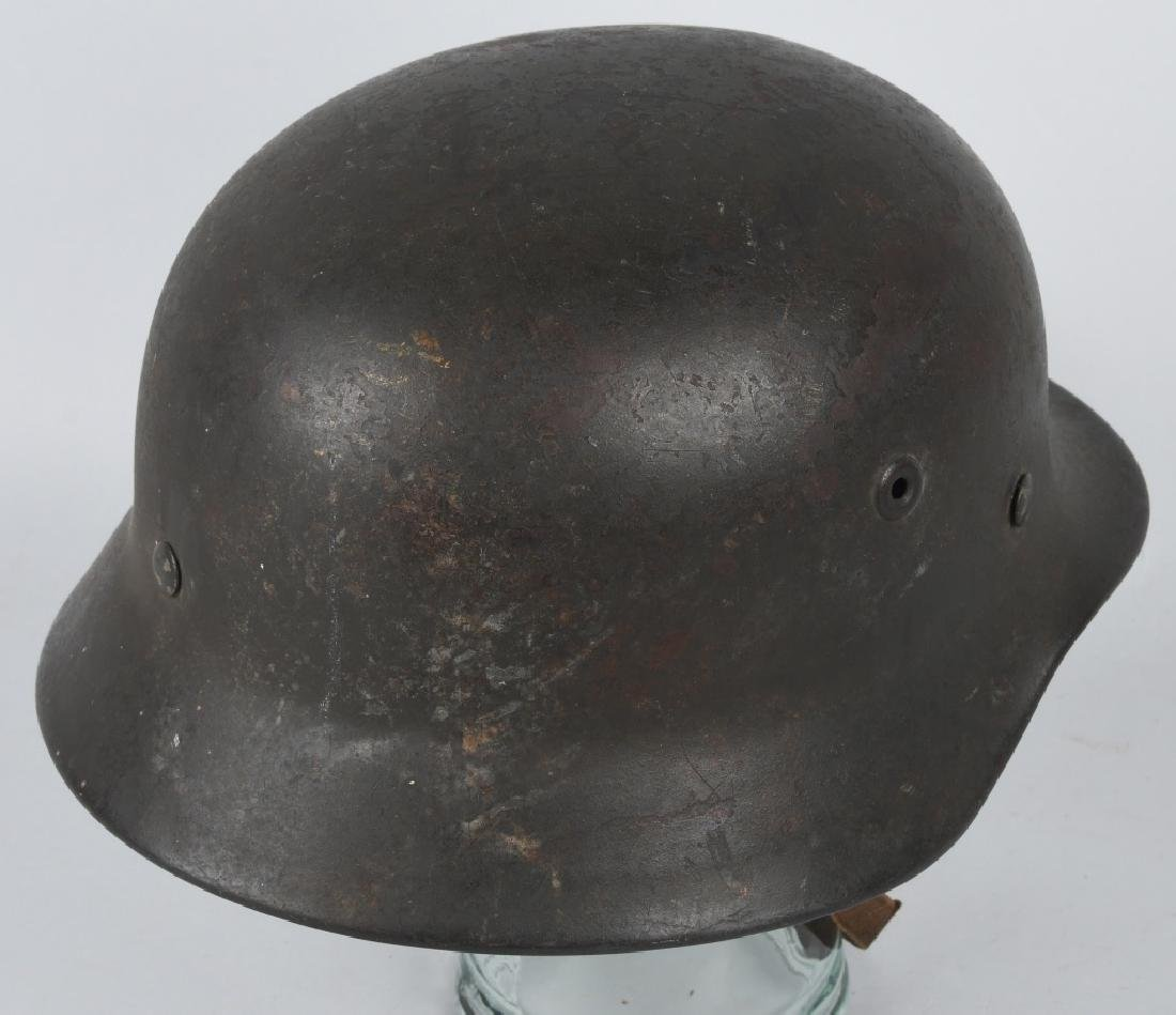 WWII NAZI GERMAN M 35 SINGLE DECAL ARMY HELMET - 4