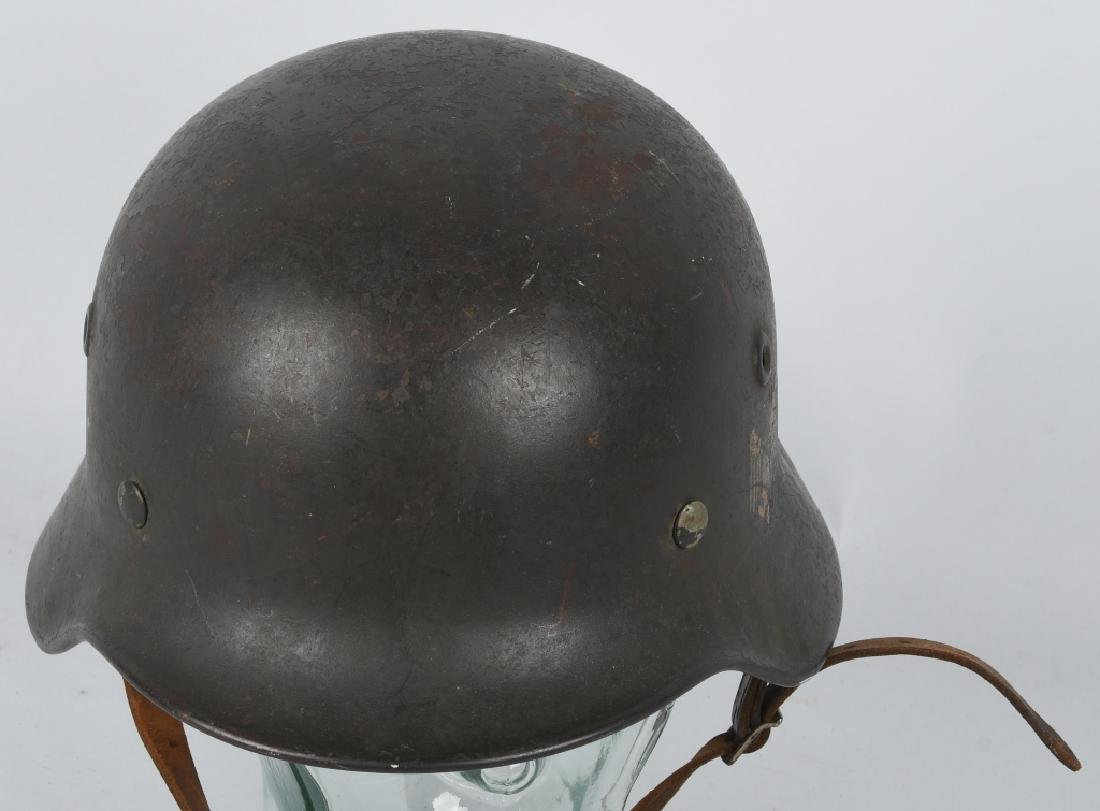 WWII NAZI GERMAN M 35 SINGLE DECAL ARMY HELMET - 5