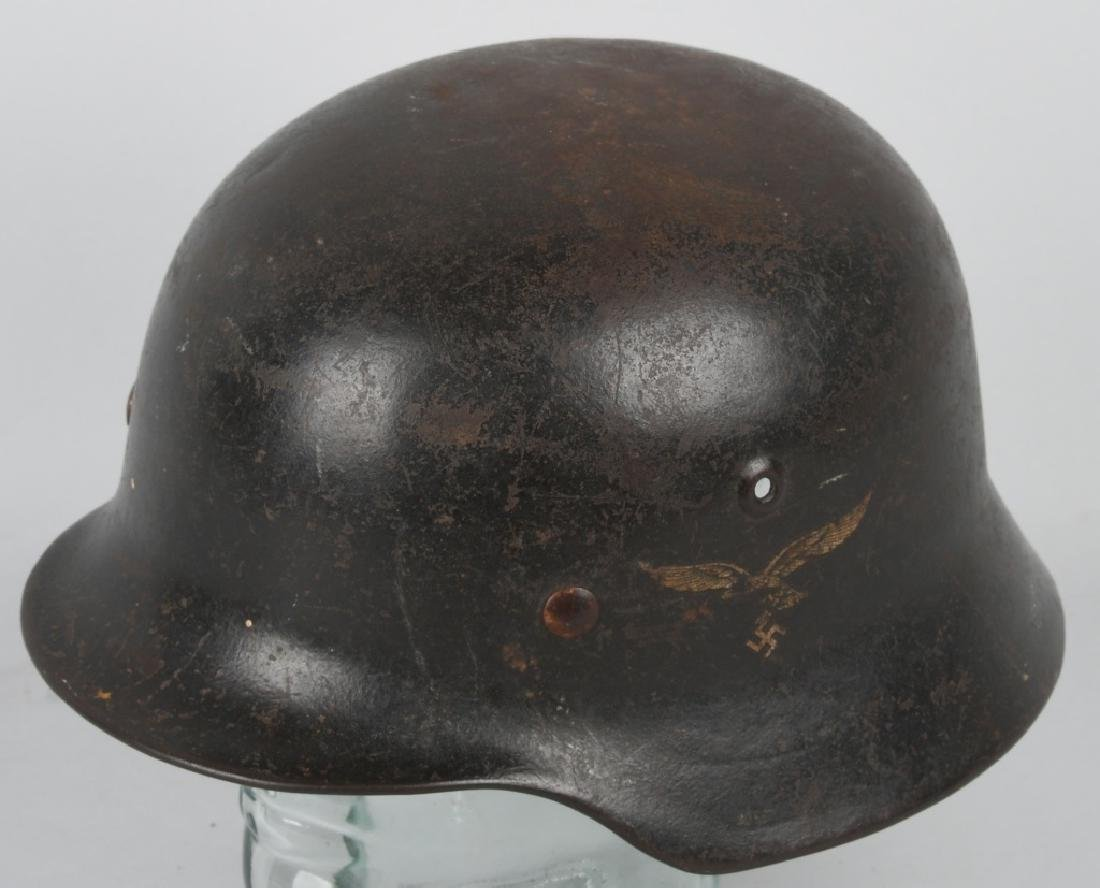 WWII NAZI GERMAN LUFTWAFFE M40 SINGLE DECAL HELMET