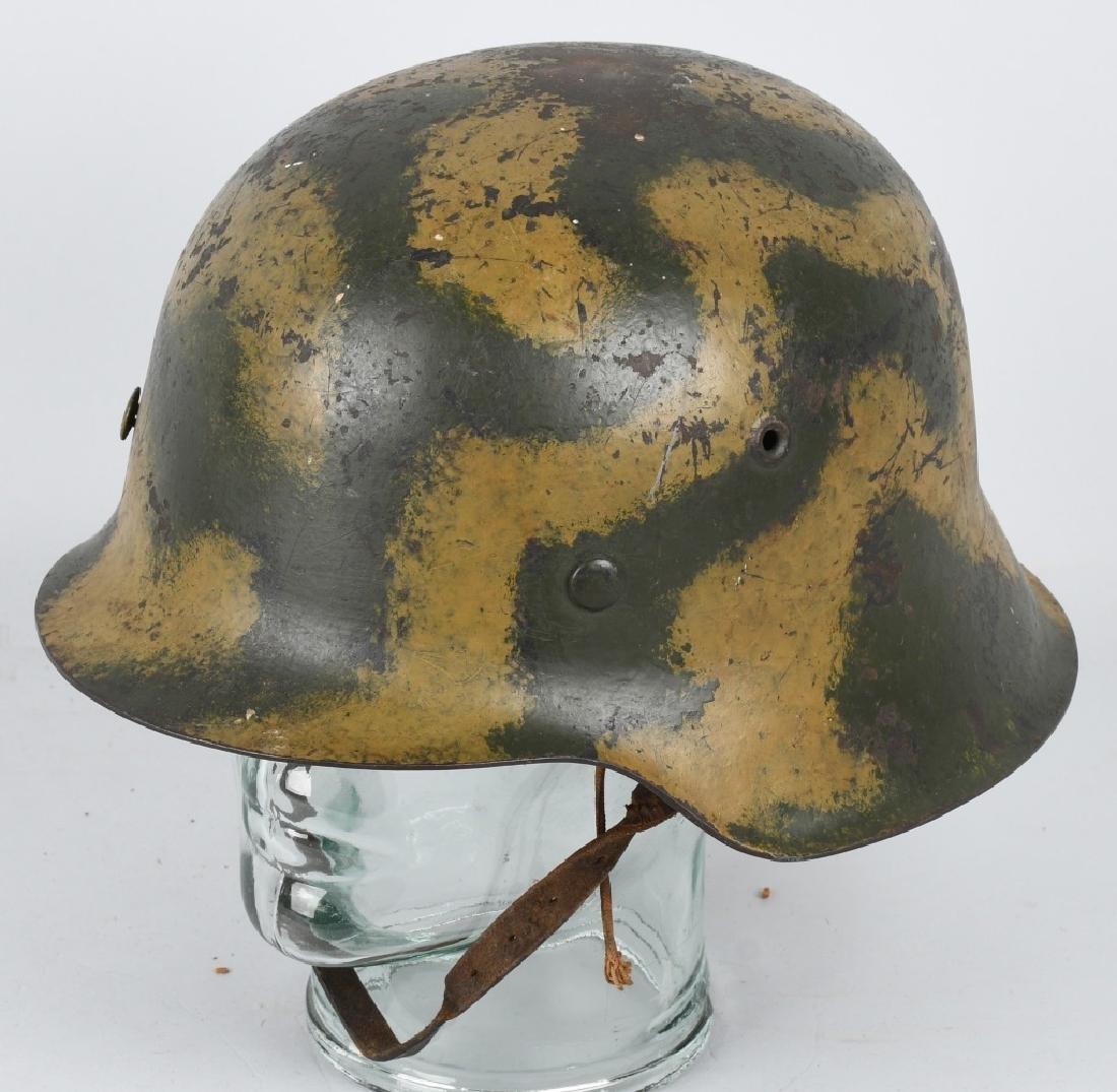 WWII NAZI GERMAN M 42 CAMOUFLAGE HELMET
