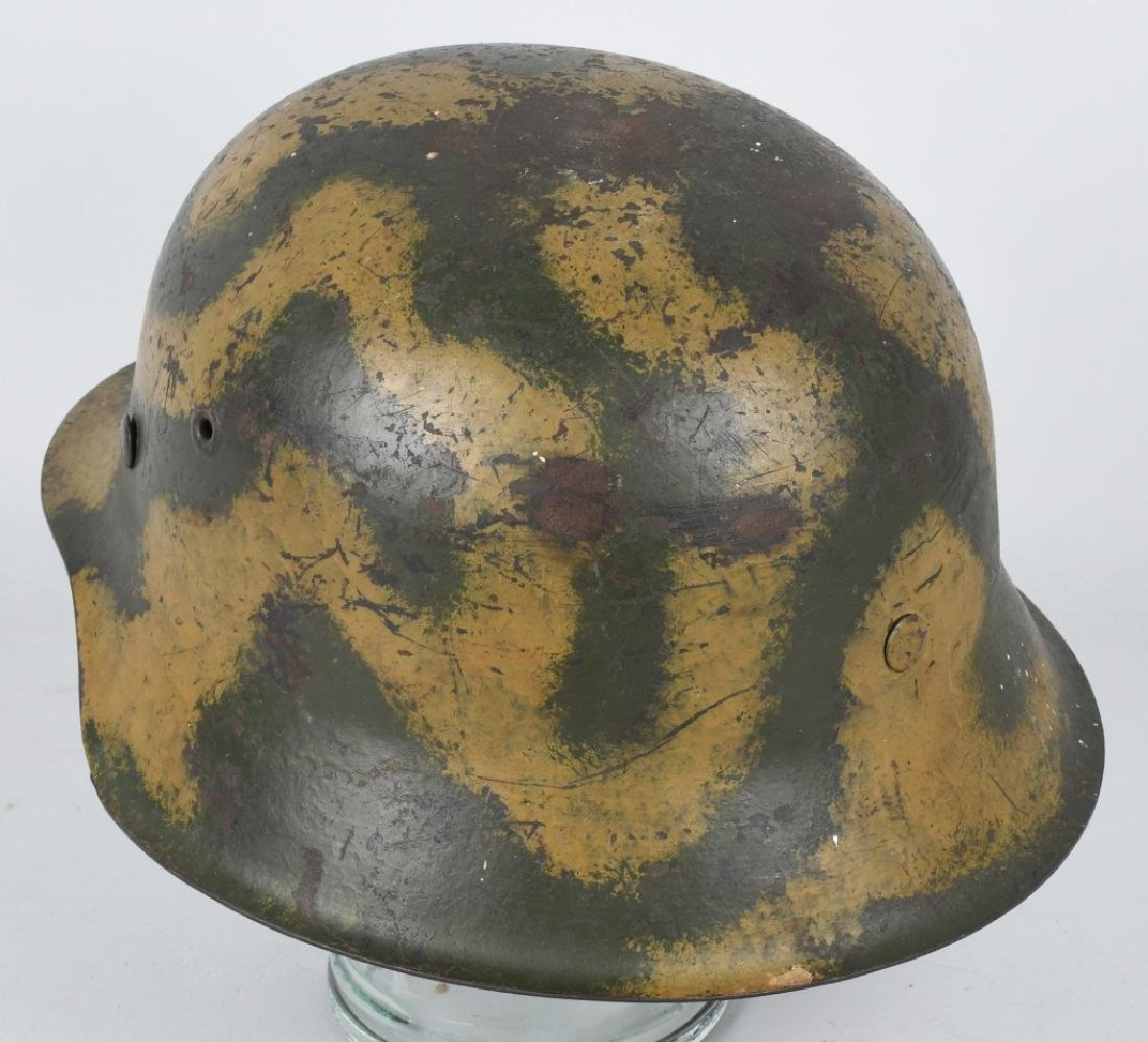 WWII NAZI GERMAN M 42 CAMOUFLAGE HELMET - 2
