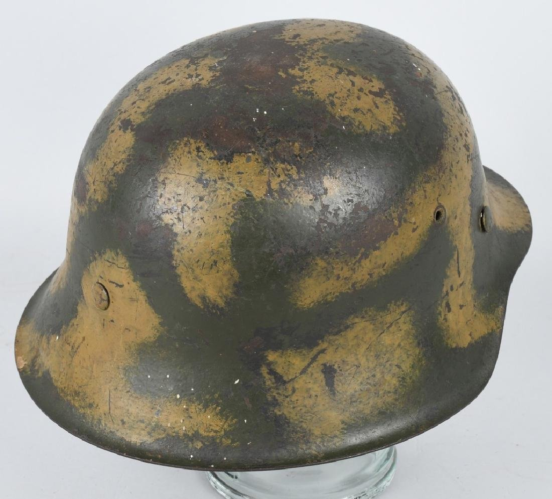WWII NAZI GERMAN M 42 CAMOUFLAGE HELMET - 3