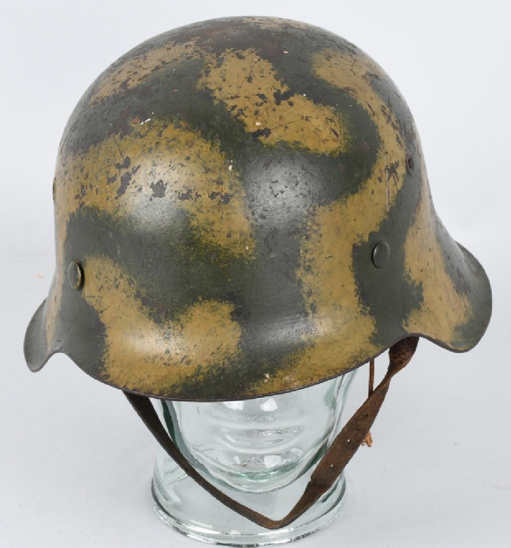 WWII NAZI GERMAN M 42 CAMOUFLAGE HELMET - 4