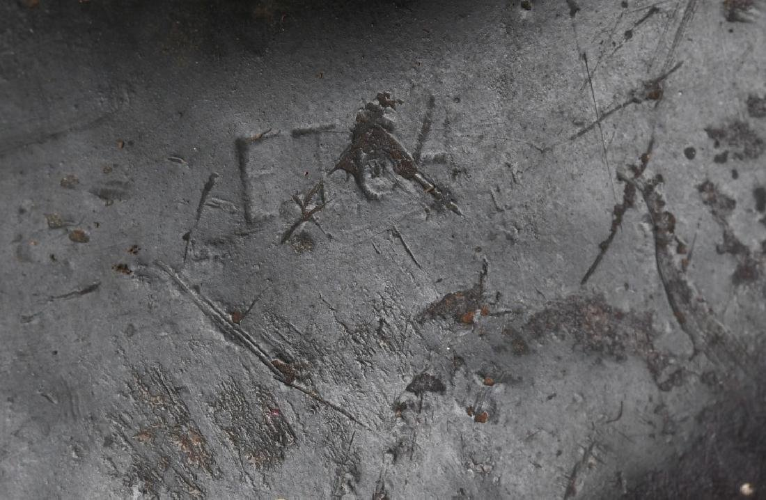 WWII NAZI GERMAN M 42 CAMOUFLAGE HELMET - 7