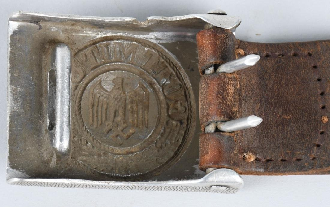 WWII NAZI GERMAN ARMY BELT AND BUCKLE - 3