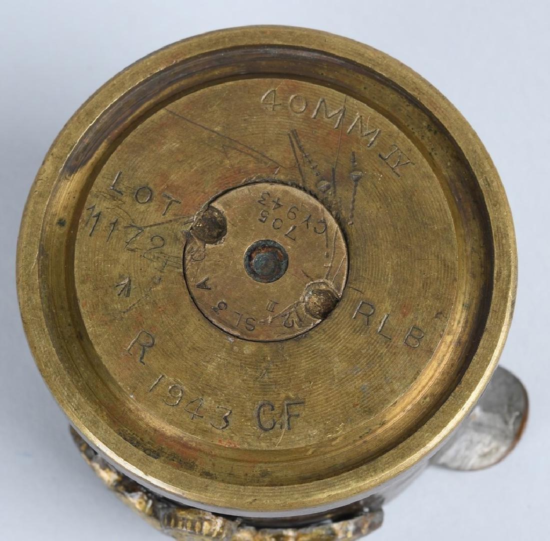 WWII NAZI GERMAN TRENCH ART 3.7 CM MK FLAK GRANATE - 4