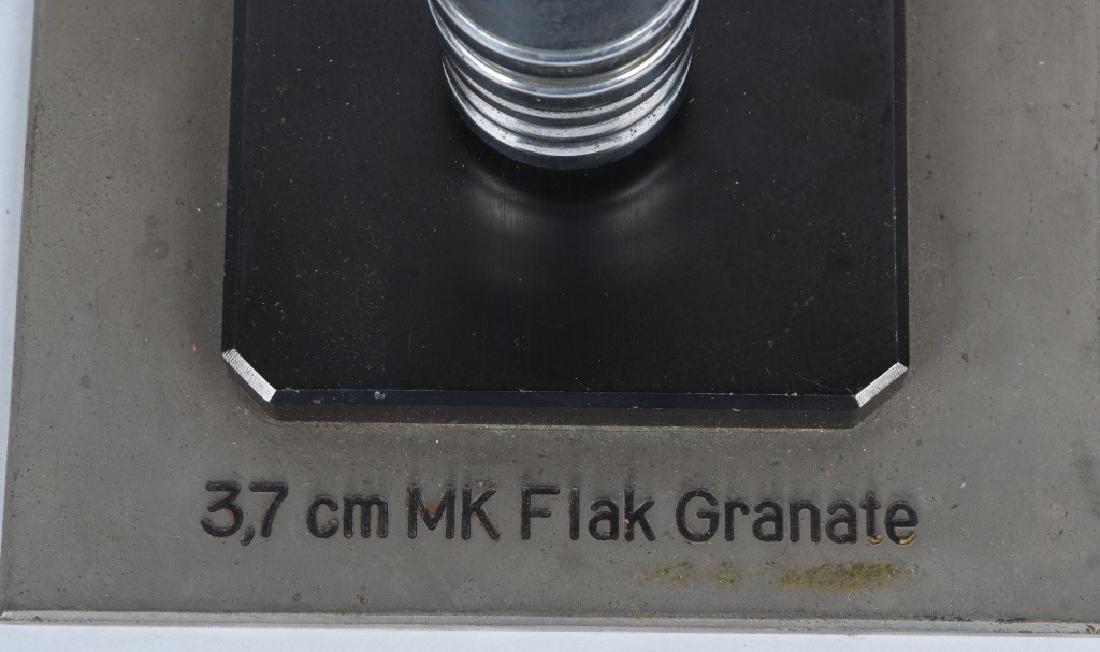 WWII NAZI GERMAN TRENCH ART 3.7 CM MK FLAK GRANATE - 6