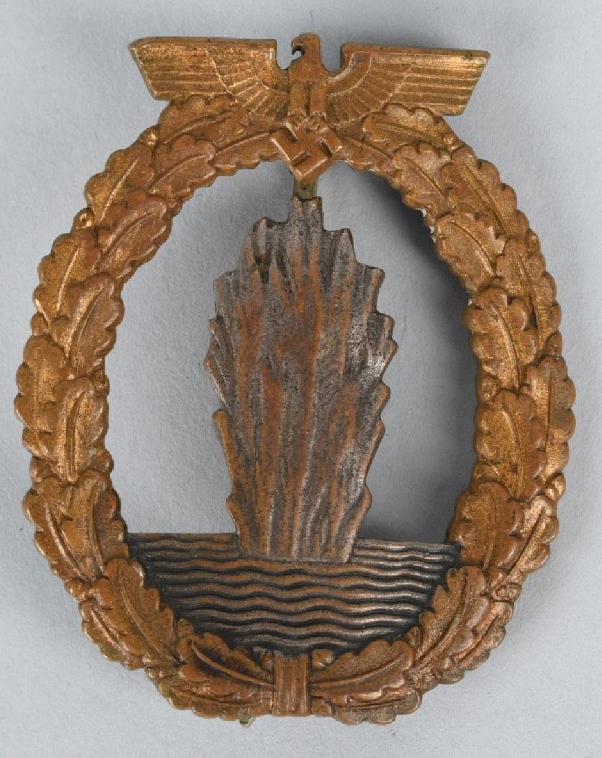 NAZI GERMAN KRIEGSMARINE MINESWEEPER BADGE