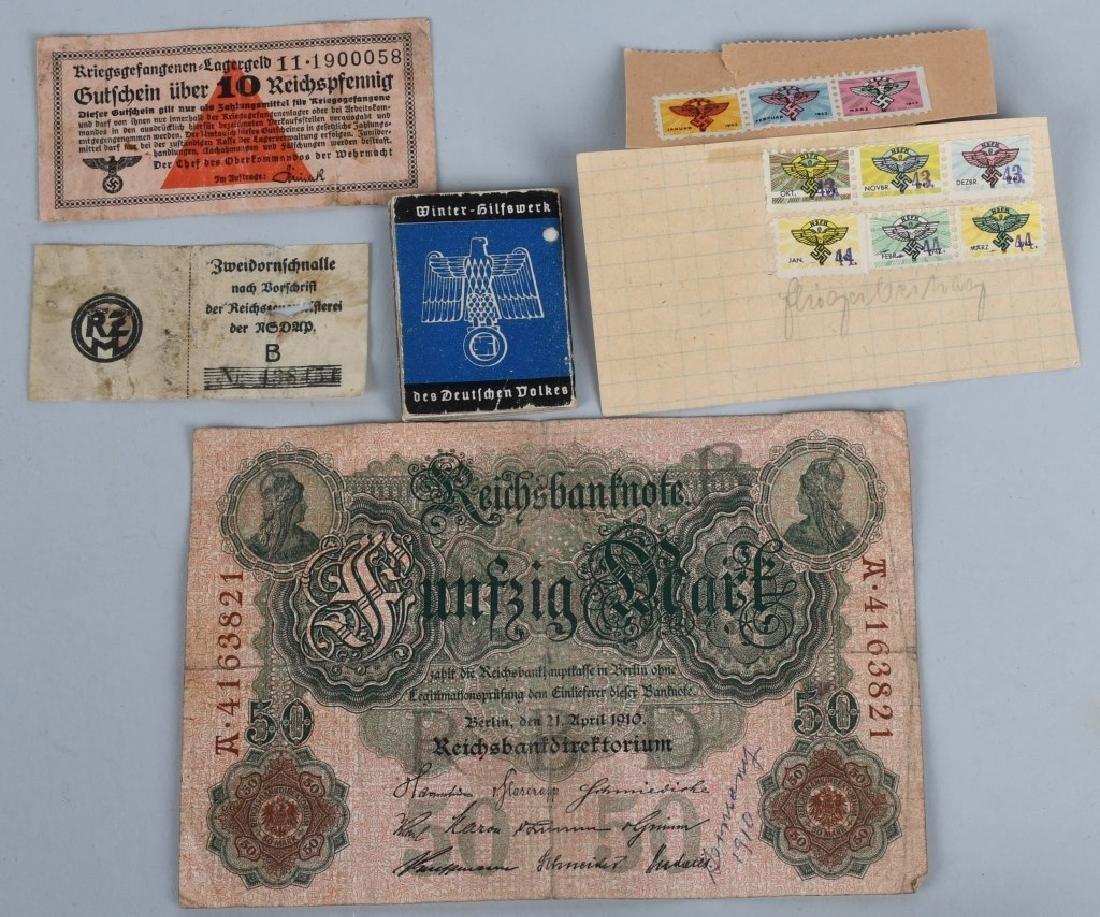 WWII NAZI GERMAN MISC. EPHEMERA & TAG LOT - 3