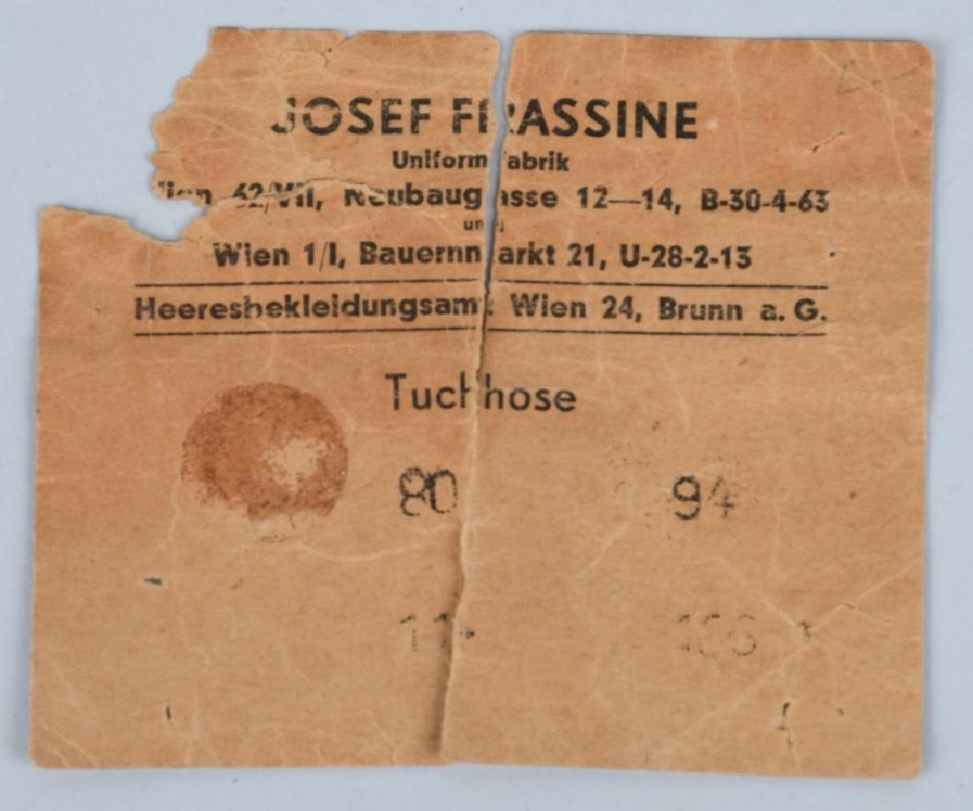 WWII NAZI GERMAN MISC. EPHEMERA & TAG LOT - 4