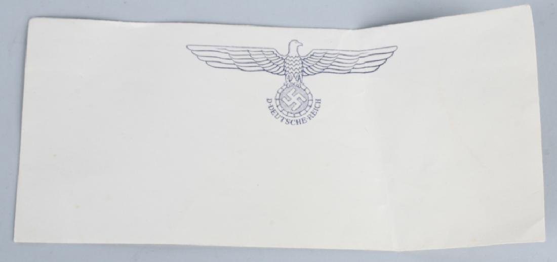 WWII NAZI GERMAN MISC. EPHEMERA & TAG LOT - 5