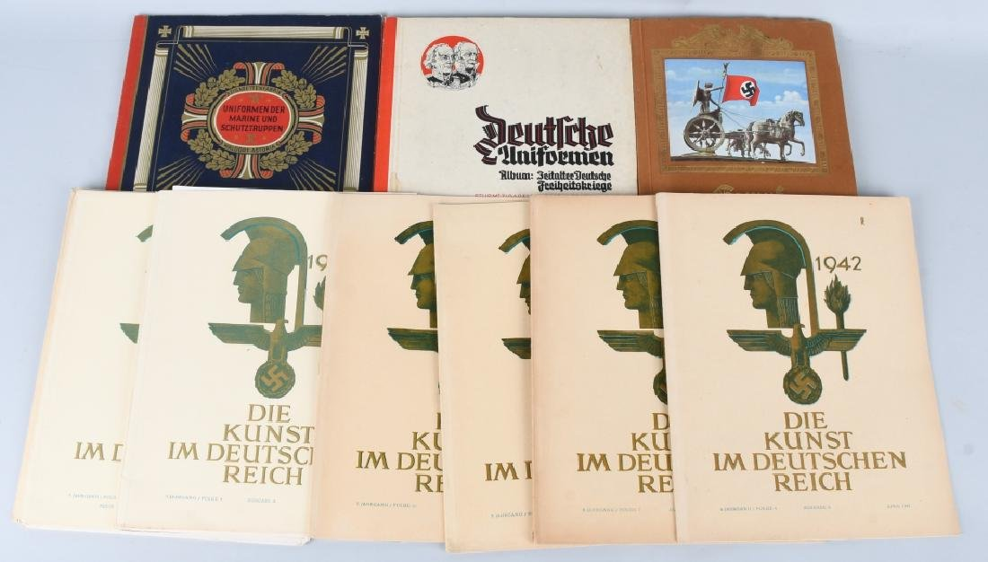 WWII NAZI GERMAN CIGARETTE ALBUMS & DIE KUNST MAGS