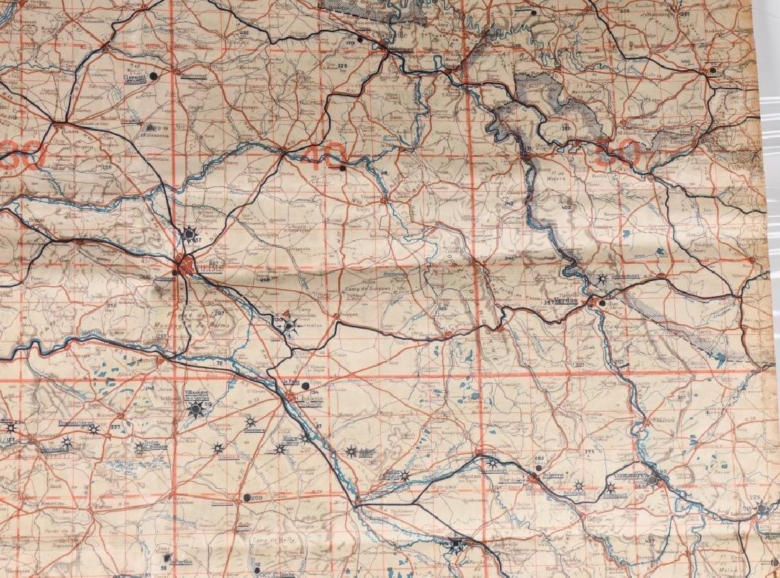 WWII NAZI LUFTWAFFE PILOT MAP PARIS REIMS FRANCE - 4