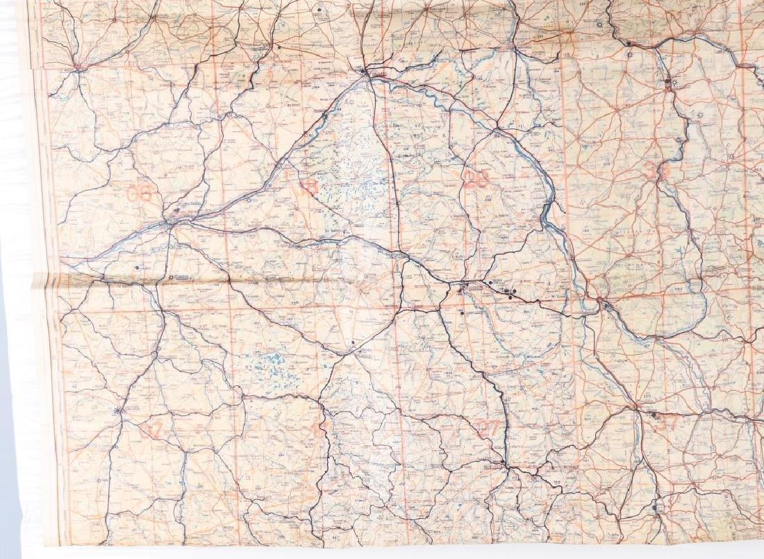 WWII NAZI LUFTWAFFE PILOT MAP PARIS REIMS FRANCE - 6