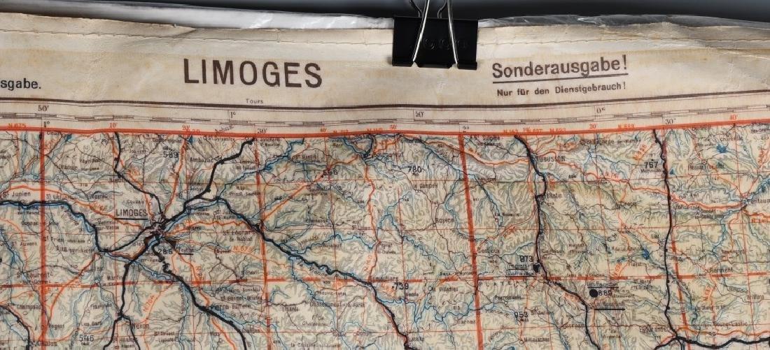 WWII LUFTWAFFE PILOT MAP BORDEAUX LIMOGES FRANCE - 3