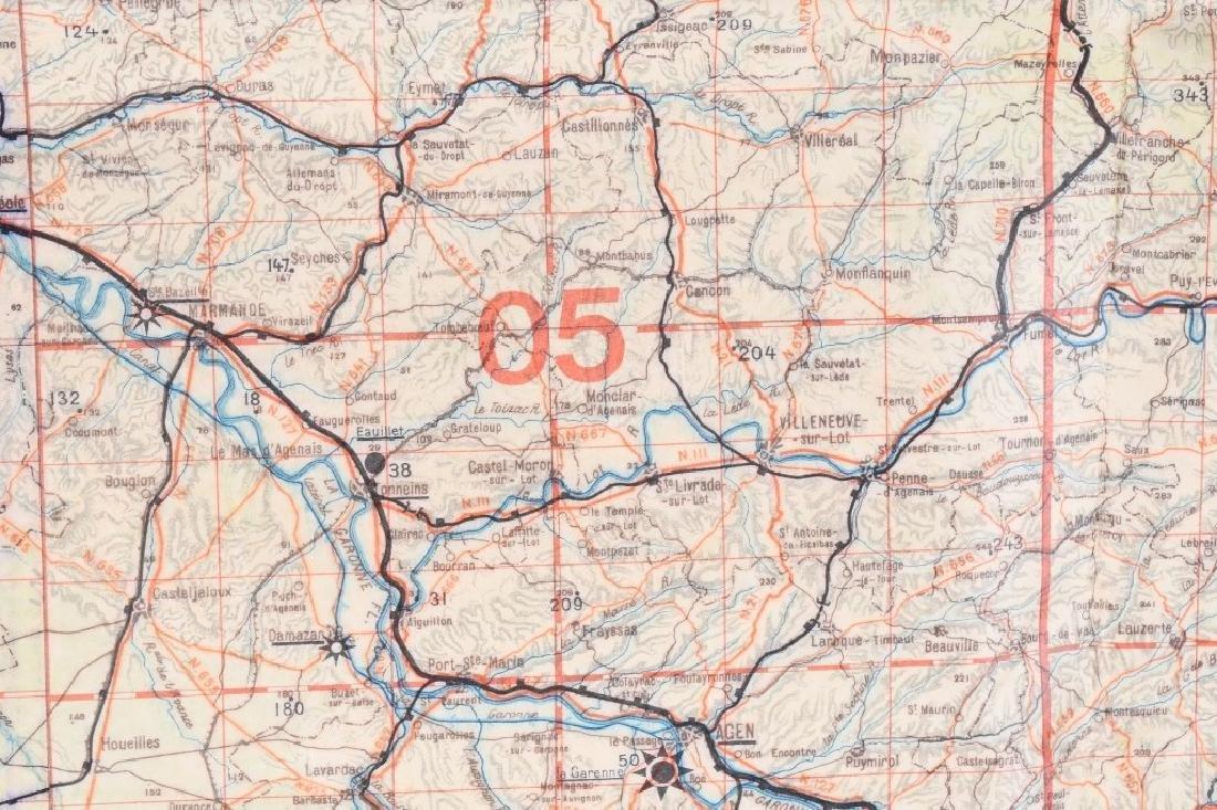 WWII LUFTWAFFE PILOT MAP BORDEAUX LIMOGES FRANCE - 4