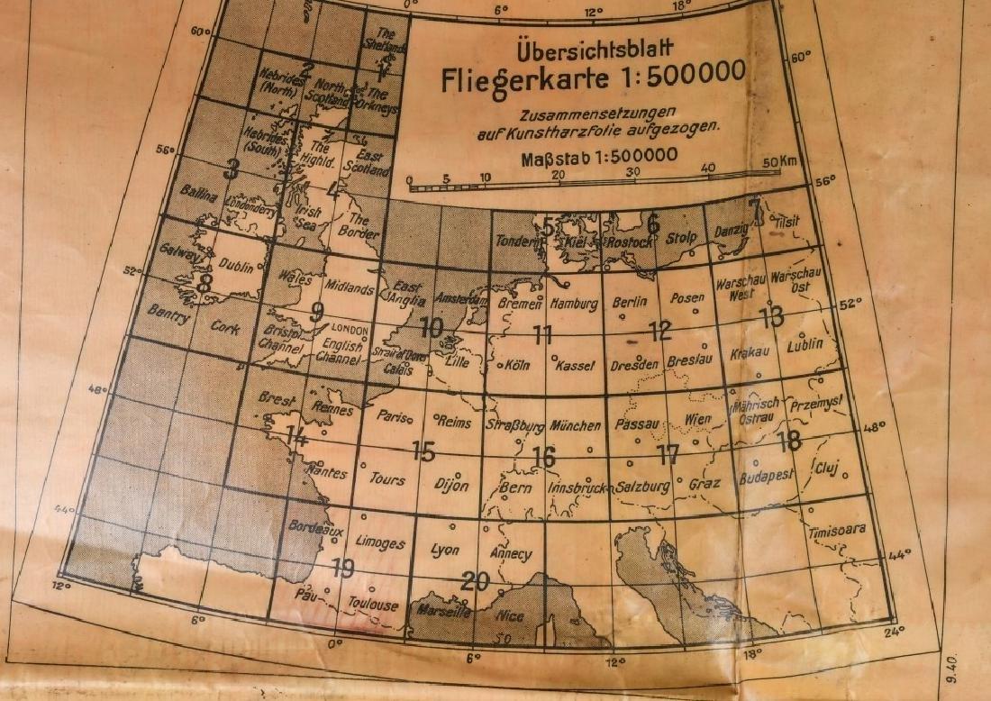 WWII LUFTWAFFE PILOT MAP BORDEAUX LIMOGES FRANCE - 6