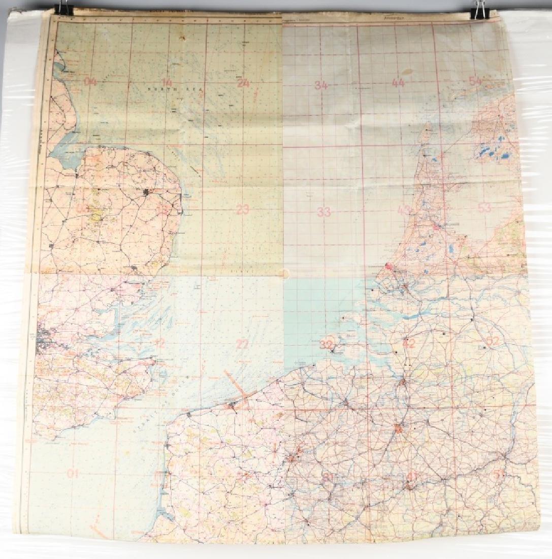 WWII NAZI LUFTWAFFE PILOT MAP E. ANGLIA AMSTERDAM