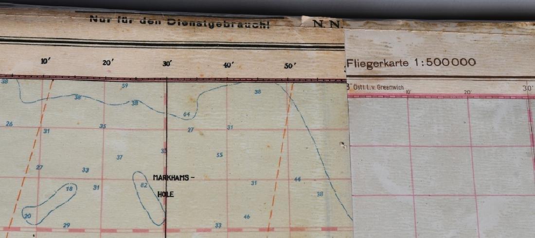 WWII NAZI LUFTWAFFE PILOT MAP E. ANGLIA AMSTERDAM - 3