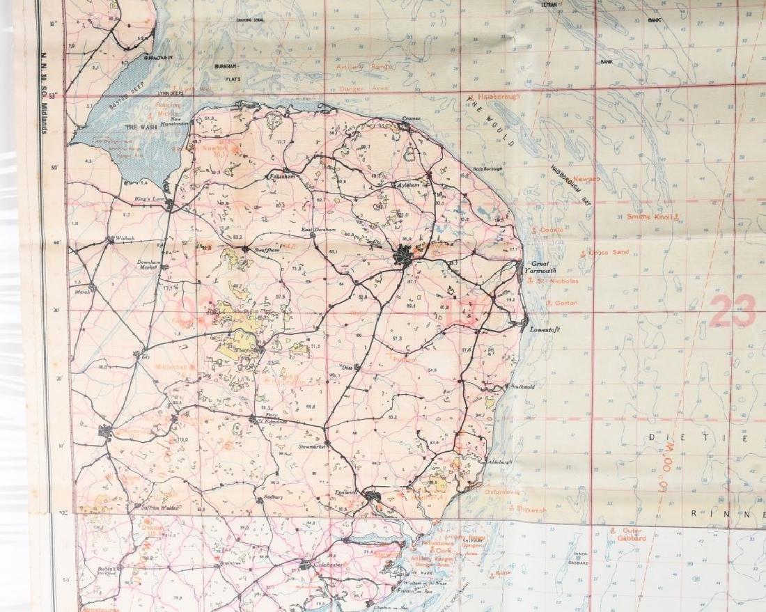 WWII NAZI LUFTWAFFE PILOT MAP E. ANGLIA AMSTERDAM - 4