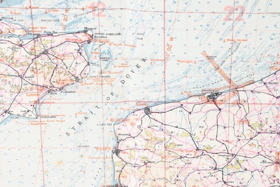 WWII NAZI LUFTWAFFE PILOT MAP E. ANGLIA AMSTERDAM - 5