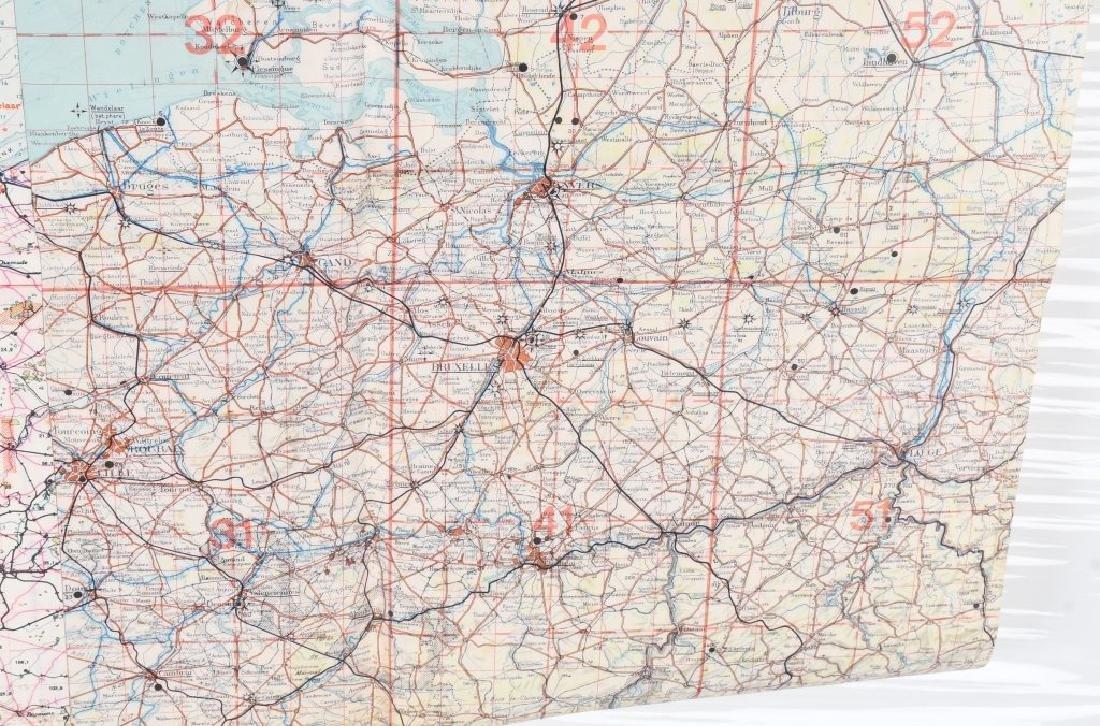 WWII NAZI LUFTWAFFE PILOT MAP E. ANGLIA AMSTERDAM - 6