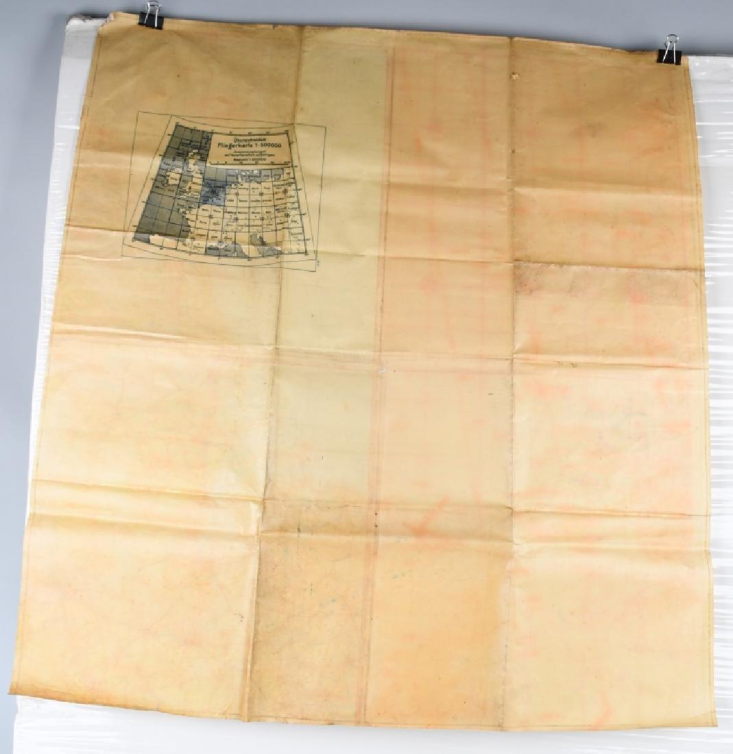 WWII NAZI LUFTWAFFE PILOT MAP E. ANGLIA AMSTERDAM - 7