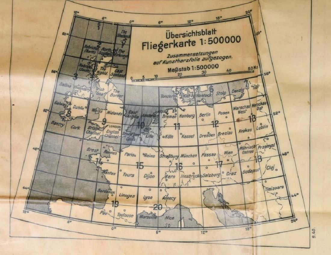 WWII NAZI LUFTWAFFE PILOT MAP E. ANGLIA AMSTERDAM - 8
