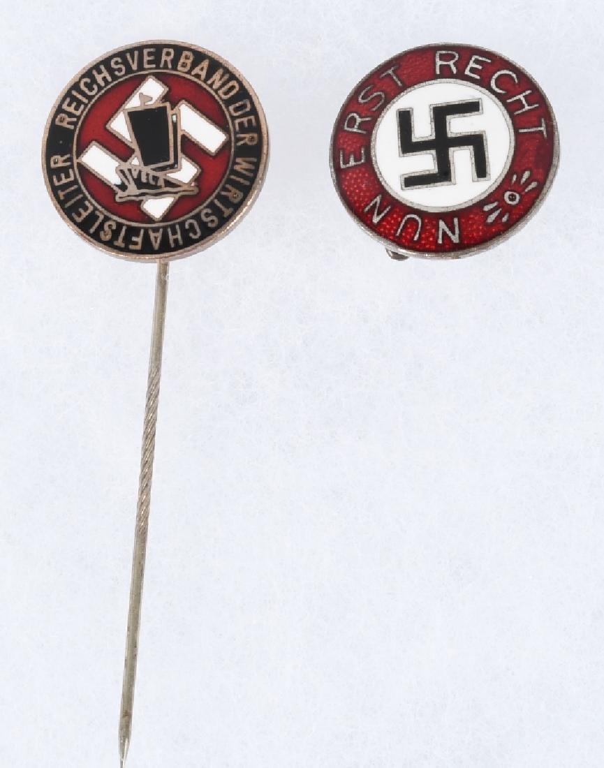 WWII NAZI GERMAN PARTY PIN & STICK PIN