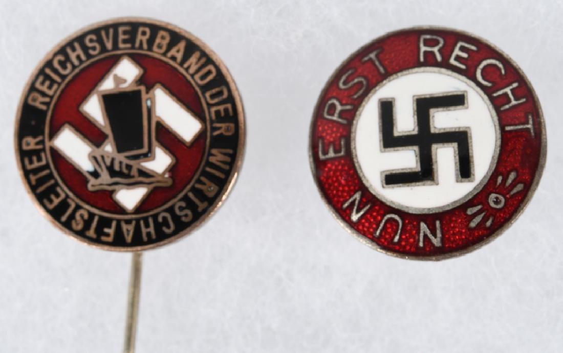 WWII NAZI GERMAN PARTY PIN & STICK PIN - 2