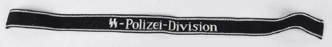 WWII NAZI GERMAN WAFFEN SS POLIZEI DIV. CUFFTITLE