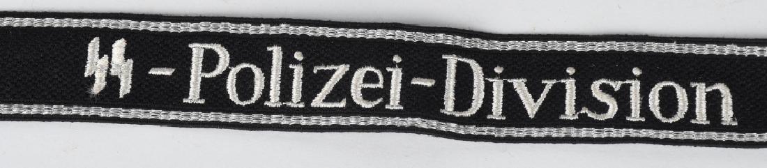 WWII NAZI GERMAN WAFFEN SS POLIZEI DIV. CUFFTITLE - 2