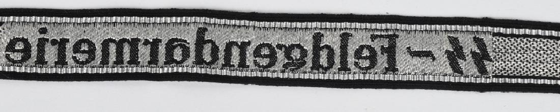 WWII NAZI WAFFEN SS-FELDGENDARMERIE EM CUFFTITLE - 4